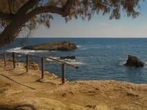 Crete, Greece. Beautiful shore of Crete island, Greece Stock Image