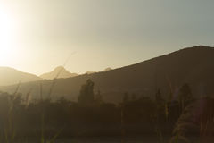 crete greece bergsolnedgång Royaltyfri Bild