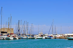 crete Greece Heraklion marina port Zdjęcie Royalty Free