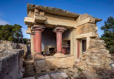 Crete, Greece - January, 2016. The Great Minoan Palace. The ruins of the Minoan palaces is the archaeological site Knossos stock image
