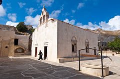 CRETE,GREECE-JULY 23: Preveli Monastery on July 23,2014 on the island of Crete in Greece. Preveli is a orthodox monastery located Stock Images