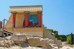 crete greece knossosslott arkivfoto