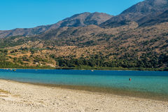 Crete, Greece: Kournas Lake, the only freshwater lake in Crete Royalty Free Stock Images