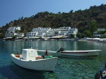 crete greece loutro Royaltyfri Foto
