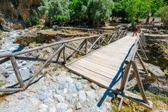 Displaced village Samaria in Samaria Gorge in central Crete, Greece. Crete, Greece, May 26, 2016: Displaced village Samaria in Samaria Gorge in central Crete Stock Image
