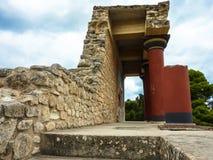 CRETE, GREECE - November, 2017: ancient ruines of famouse Knosso. CRETE, GREECE - November, 2017: scenic ruins of the Minoan Palace of Knossos. Knossos palace is Stock Photos