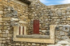 CRETE, GREECE - November, 2017: ancient ruines of famouse Knossos palace at Crete. Crete, Greece - November, 2017: scenic ruins of the Minoan Palace of Knossos Stock Photography