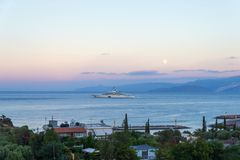 CRETE, GREECE - october 4, 2017: the most expensive yacht Eclips Stock Images