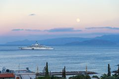 CRETE, GREECE - october 4, 2017: the most expensive yacht Eclips Stock Photography