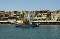 crete greece rays den jordägande pågående nivån sunen Arkivfoton