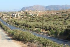 crete greece rays den jordägande pågående nivån sunen Royaltyfria Bilder