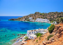 Crete. Greek village of Loutro on the southern coast of Crete island Royalty Free Stock Image