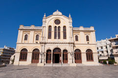 CRETE,HERAKLION-JULY 25: The Agios Minas Cathedral on July 25 in Heraklion on Crete island, Greece.  Royalty Free Stock Photography