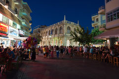 CRETE,HERAKLION-JULY 25: Nightlife on July 25,2014 in Heraklion on the Crete island. Royalty Free Stock Photography