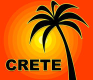 Crete Holiday Means Go On Leave And Europe Royalty Free Stock Images