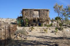Crete, Hut on the beach Royalty Free Stock Images