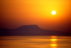 Crete island. Beautiful sunset on Crete island Stock Photo