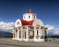 Crete Island Church Landscape Greece Stock Images