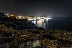 Crete island at night, Greece Royalty Free Stock Image