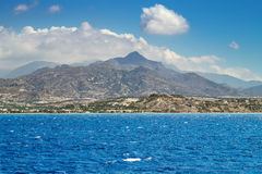 Crete island view from Lybian sea Stock Photography