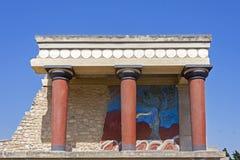 crete knossos pałac obrazy stock