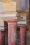 crete knossos pałac Szczegół antyczne ruiny sławny Minoan pałac Knosos crete wyspa Greece Zdjęcie Royalty Free
