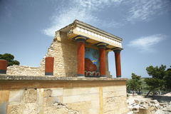 Crete knossostempel Royaltyfri Fotografi
