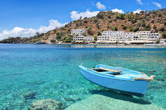 Crete, Loutro. Greek village of Loutro on the southern coast of Crete island Stock Images