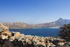 crete Mar Fortaleza en la isla de Gramvous imagenes de archivo