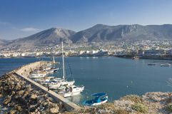 Crete marina and city Royalty Free Stock Photo