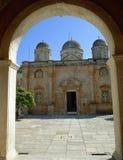 crete Monasterio de Agia Triada foto de archivo