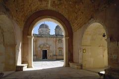 crete Monasterio de Agia Triada fotografía de archivo libre de regalías