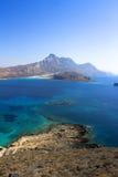 crete Morze Forteca na wyspie Gramvous Fotografia Stock