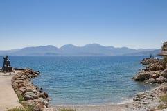 Crete Mountain Range From Agios Nicholas Stock Photography