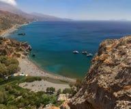 Crete palm beach Stock Photo