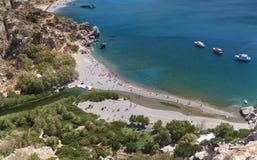 Crete palm beach Royalty Free Stock Image