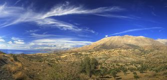 Crete panorama. Pano of Crete island in summer Royalty Free Stock Images