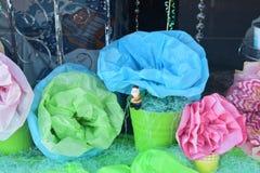 Crete papierowi kwiaty dla wiosna pokazu Fotografia Stock