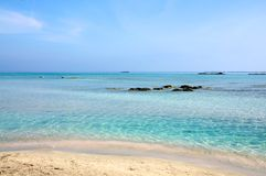 crete plażowy elafonisi obrazy royalty free