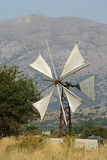 Crete / Rusty windmill Royalty Free Stock Photos