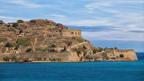 Crete seascape with island Spinalonga Stock Image