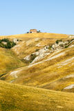 Crete senesi, characteristic krajobraz w Val d'orcia Obrazy Stock