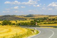 Crete senesi, characteristic krajobraz w Val d'orcia Zdjęcia Royalty Free