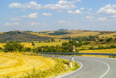 Crete senesi, characteristic landscape in Val d'Orcia Royalty Free Stock Photos