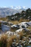 Crete snow. 2017. Fodele. Greece Royalty Free Stock Image