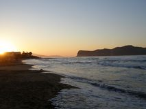 crete solnedgång Royaltyfri Bild