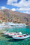 Crete. Southern coast, village of Loutro Stock Images