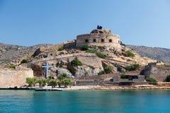 Crete Spinalonga fästning Grekland Arkivbild