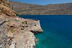 Crete Spinalonga fästning Grekland Arkivfoto