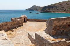 Crete Spinalonga fästning Grekland Royaltyfria Bilder